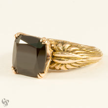 """Come Fly With Me"" Black Spinel Rose Gold Ring"