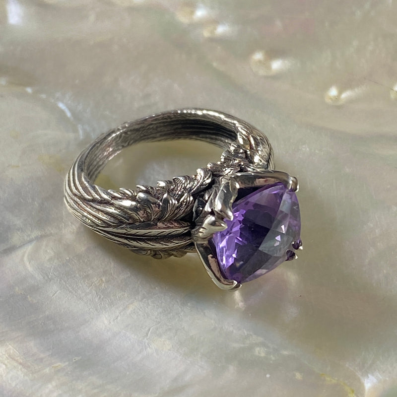 """Wings of Desire"" Amethyst Ring"