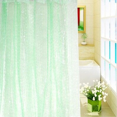3D Waterproof Mildew Thick Translucent Shower Curtain