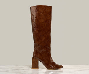 BO KNEE BOOT, Cognac