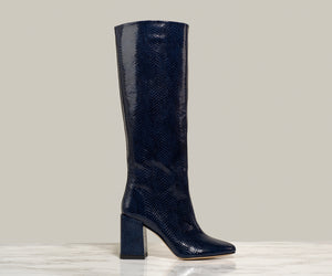 BO KNEE BOOT, Navy