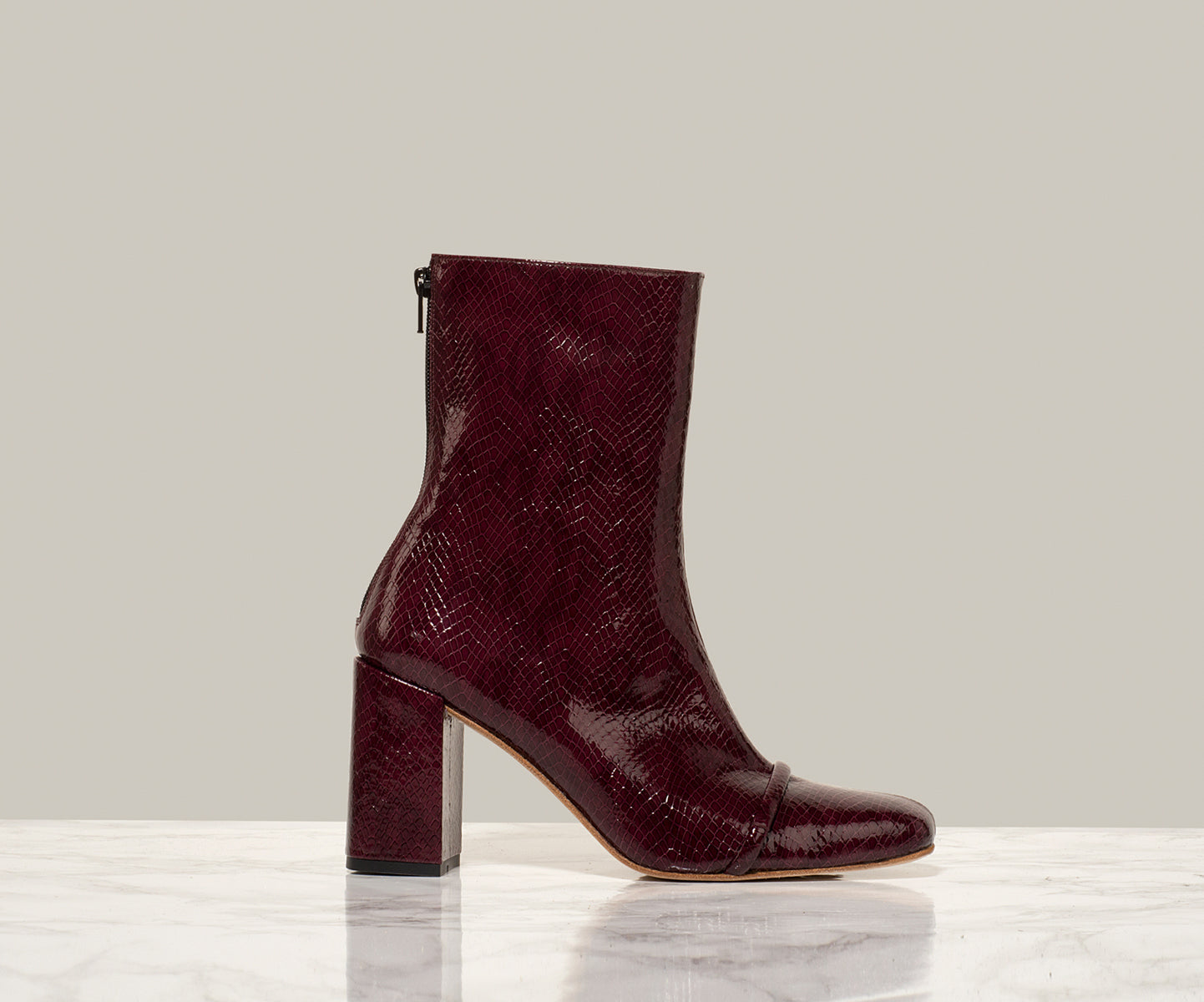 GIGI ANKLE BOOT, Burgundy