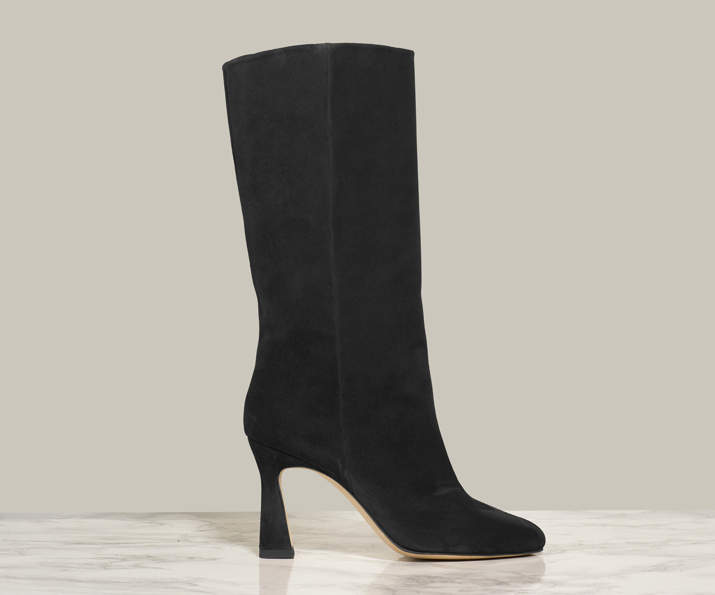 QUEEN BOOT, Black Suede