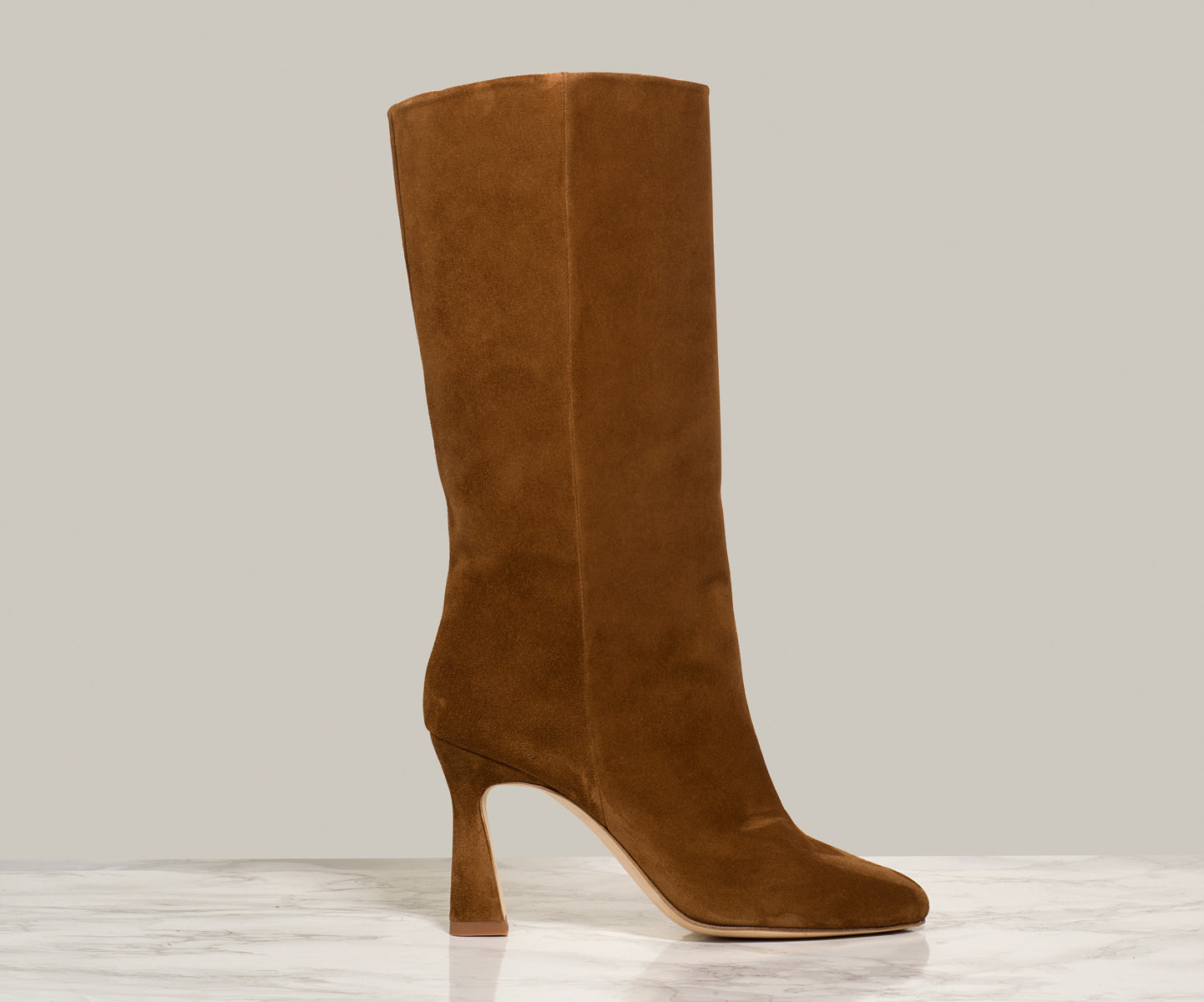 QUEEN BOOT, Tan Suede