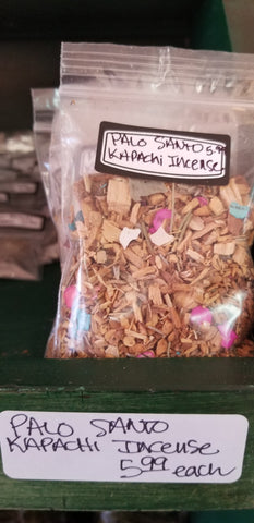 "Incense - Palo Santo Kapachi Incense 3"" x 4"" bag"