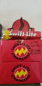 Incense - Charcoal Tablets Swift Lite - 1 roll - 10 tabs per roll