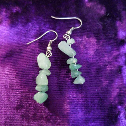 Earrings- Aventurine Chip Earrings