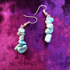 Earrings- Howlite Chip Earrings