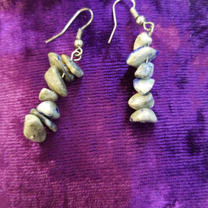 Earrings- Sodalite Chip Earrings