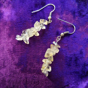 Earrings- Citrine & Quartz Chip Earrings