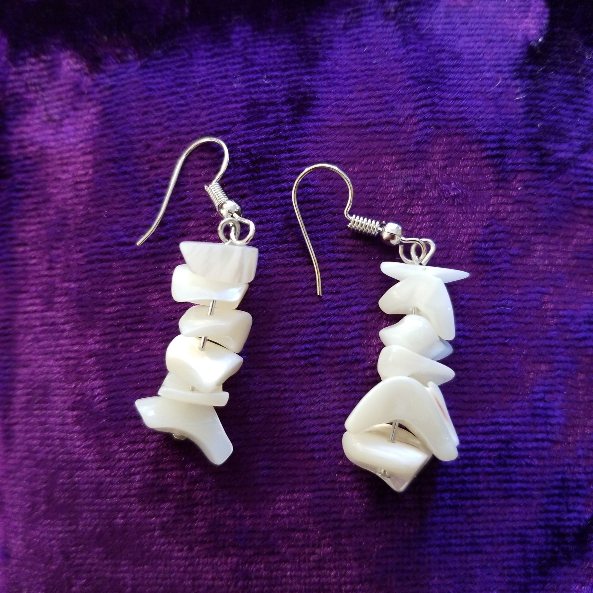Earrings- Mother of Pearl Chip Earrings