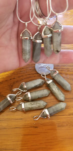 Pendants- Labadorite Pendant on 925 silver plated chain