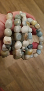 Bracelets - Gemstone - Amazonite Nugget bracelet fits up to 8 in