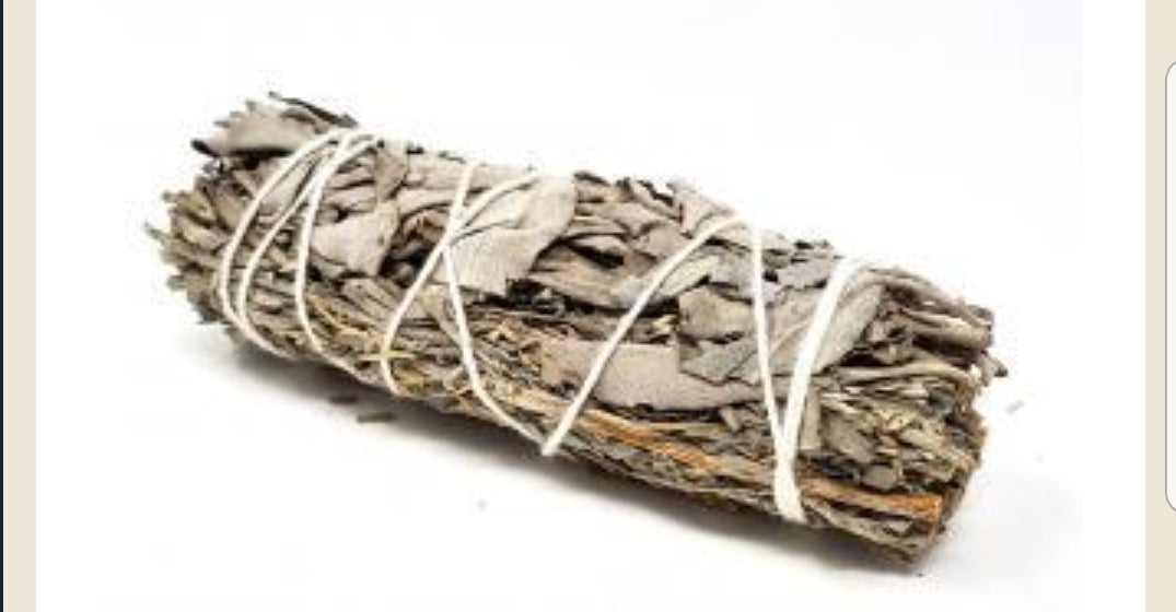"Smudges- Blue & White Sage stick L 3"" to 4"" approx"