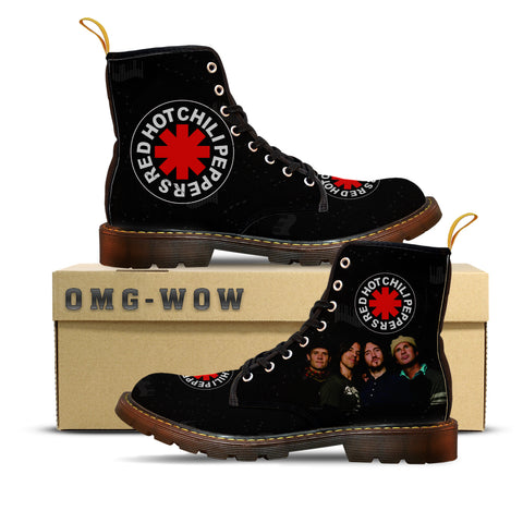 66c3a26d782c16 Red Hot Chili Peppers Incredible Canvas Boots – omg-wow-store