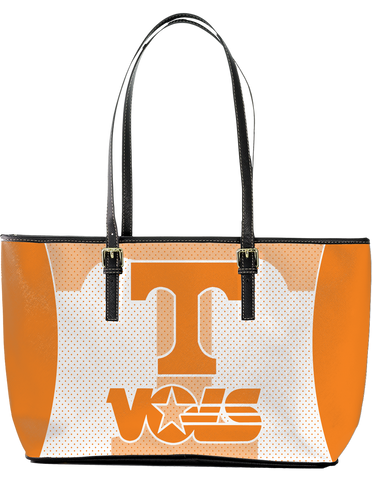 TV Large Leather Tote