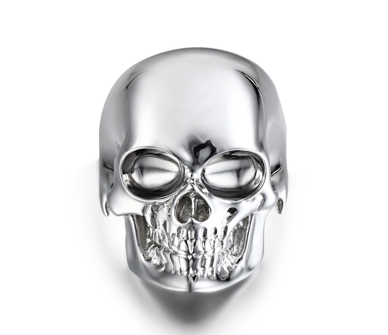 The Master - Rhodium Plated Sterling Silver Skull Ring1