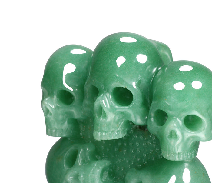 Green Aventurine Carved Crystal Skull Buckle1