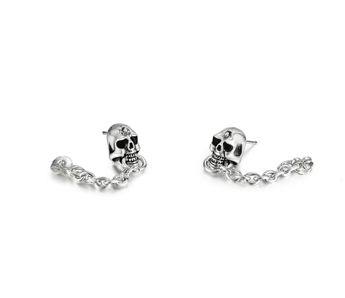 Sterling Silver Skull Earrings1