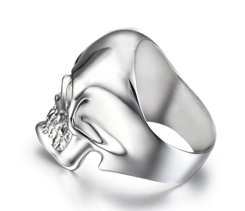 The Master - Rhodium Plated Sterling Silver Skull Ring