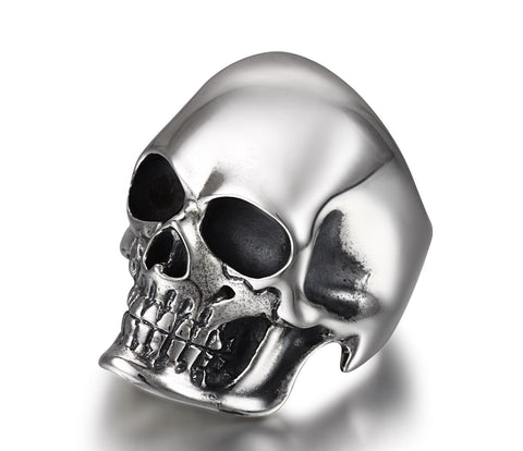 The Master - Oxidized Sterling Silver Skull Ring1