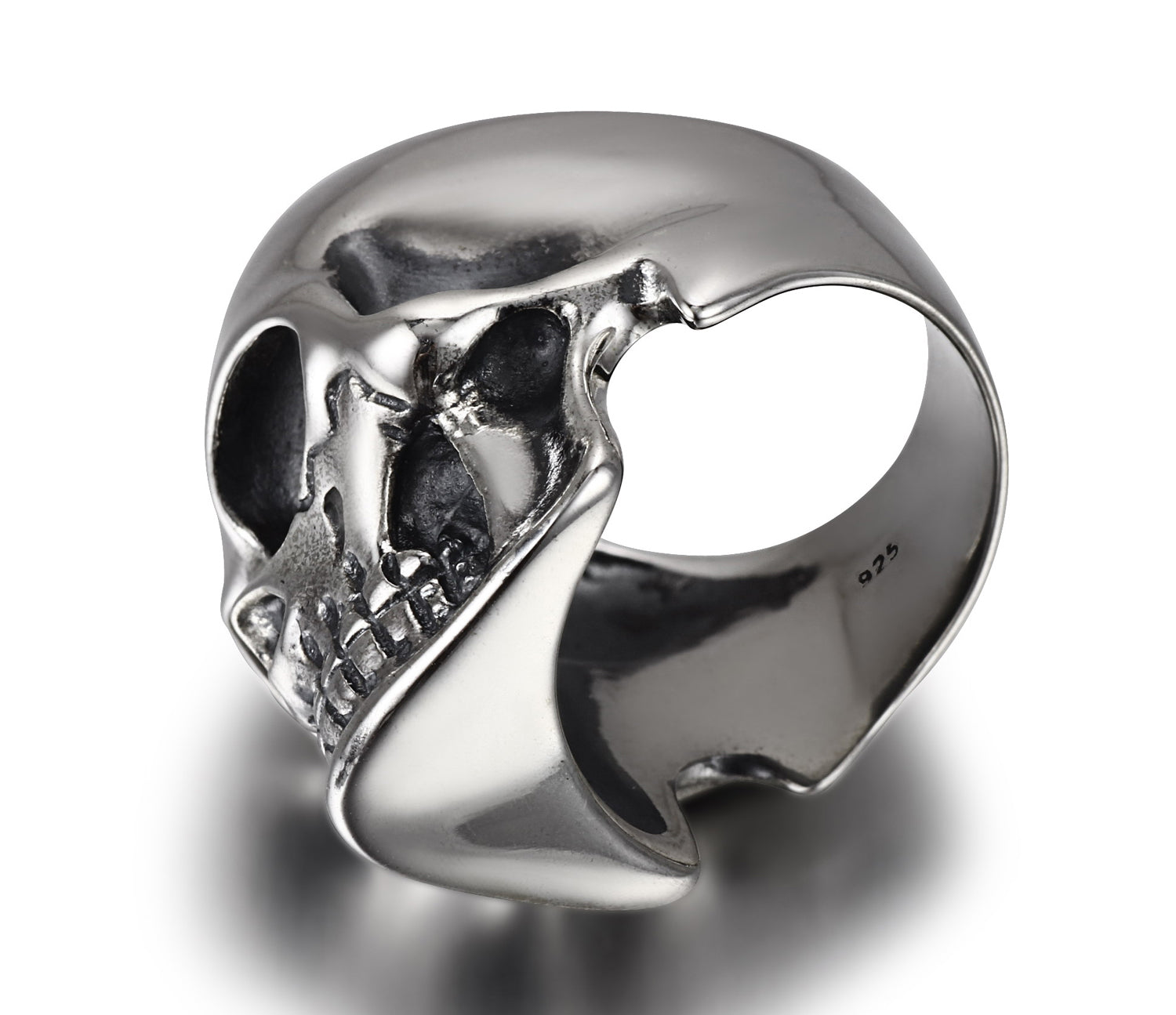 The Master - Oxidized Sterling Silver Skull Ring