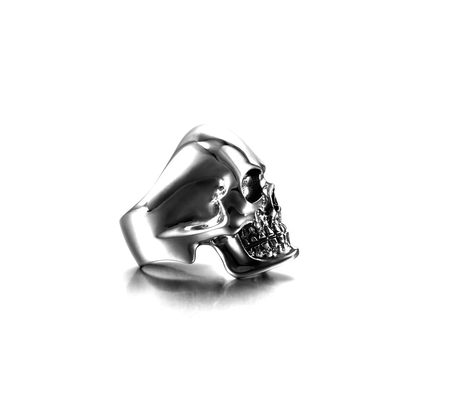 The Master - Black Rutanium Plated Sterling Silver Skull Ring
