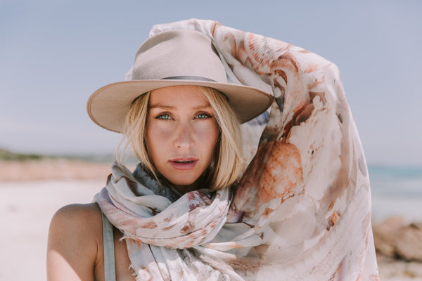 The Tide And The Moon Collective, New Collection, Treasures Of The Sea Scarf, Australia Scarves, Cashmere Blend Scarves, Scarf,
