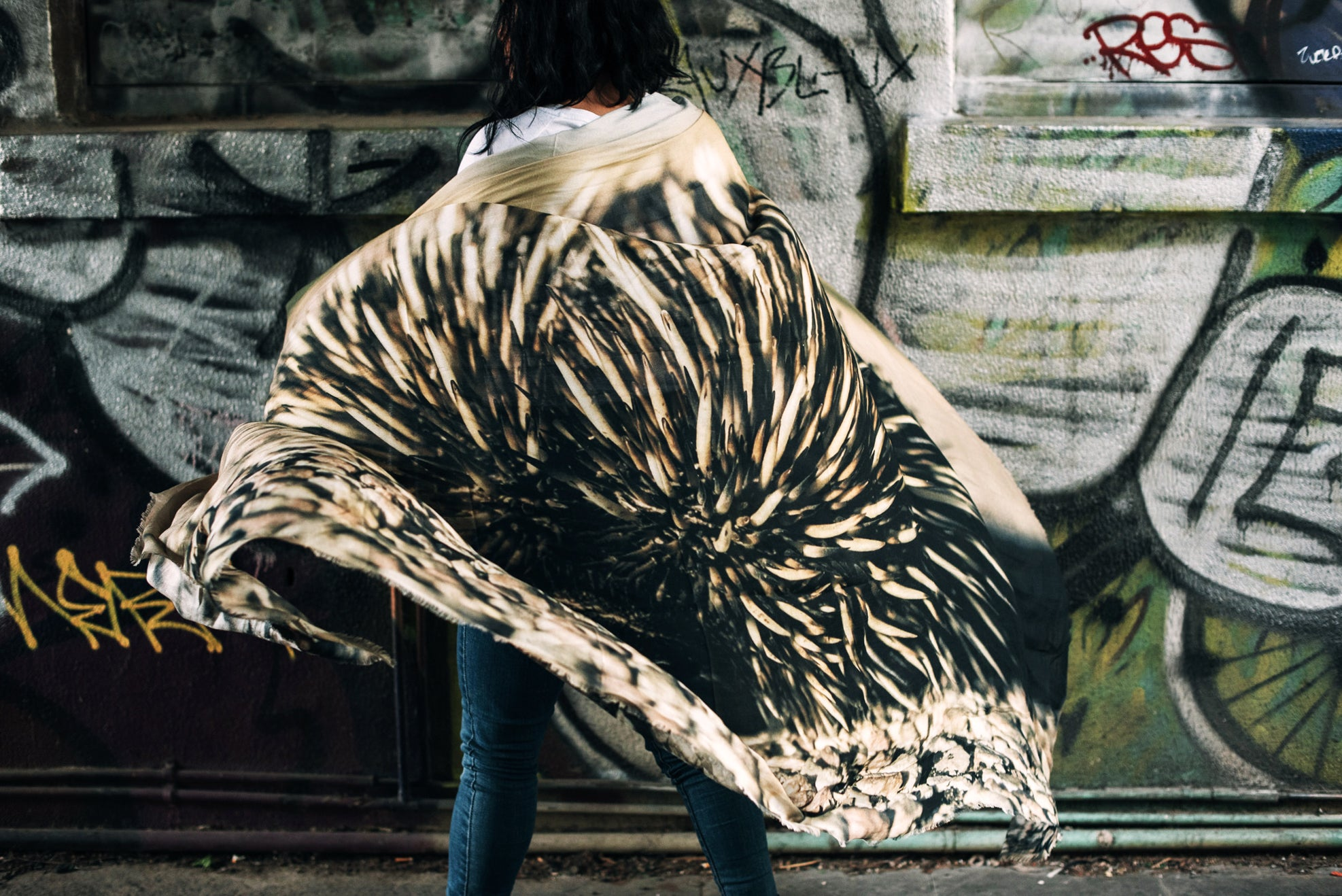 Wanderer Scarf (Echidna Animal Print) // SOLD OUT