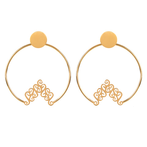 Swinging Chevron Hoops