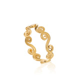 Single gold swirly stacking ring