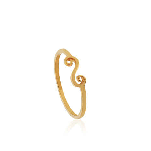 Single Swirl Ring