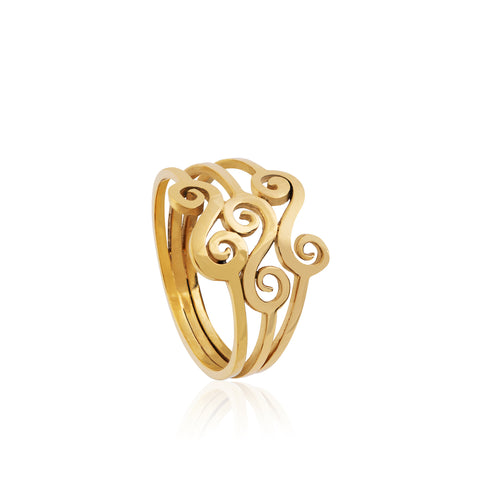 Triple Swirl Ring