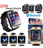Q18 Bluetooth Smart Bracelet Watch Phone with Touch Screen Support Micro SIM TF Card Remote Camera/Anti-lost for iPhone Android