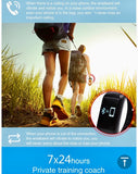 Fitness tracker, Smart Bracelet, Heart rate and Blood pressure monitor, Waterproof, Android IOS Compatible Smart Technology