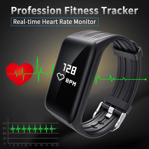 Copy of Fitness tracker, Smart Bracelet, Heart rate and Blood pressure monitor, Waterproof, Android IOS Compatible Smart Technology