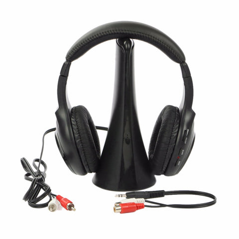 5 In 1 Professional Wireless Headphone More Reliable Computer PC Home Use Anti-Interference Headset For CD/DVD Player
