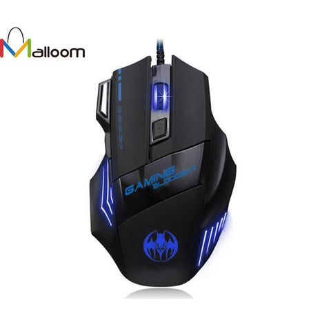 Malloom Newest Mouse Game 3200 DPI 7Buttons LED Optical USB Wired Gaming Mouse Mice For Pro Gamer