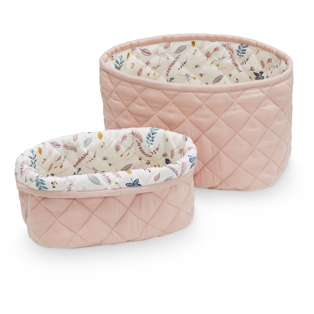 Cam Cam Quilted Stoarge Baskets (set of 2) - Blossom Pink