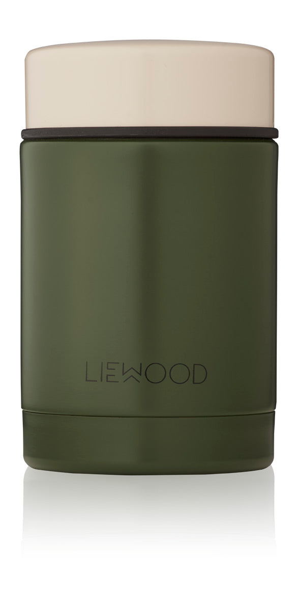 Liewood Nadja Food Jar - Panda Hunter Green