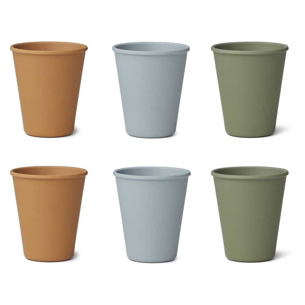 Liewood Gertrud Bamboo Cup - 6 pack - Blue Multi Mix