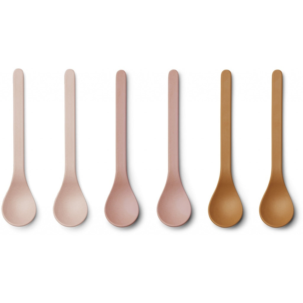 Liewood Etsu Bamboo Spoon - 6 pack - Rose Multi Mix