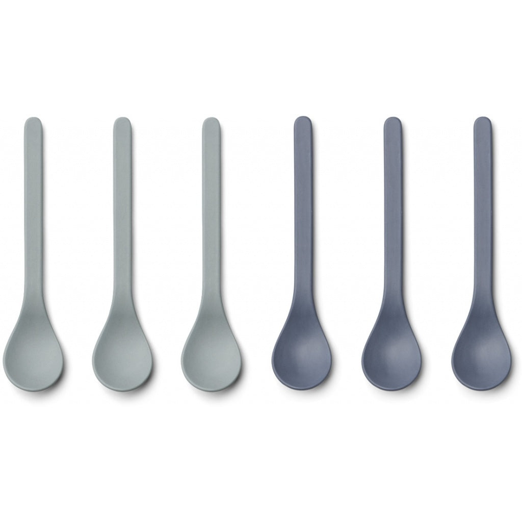 Liewood Etsu Bamboo Spoon - 6 pack - Blue Mix