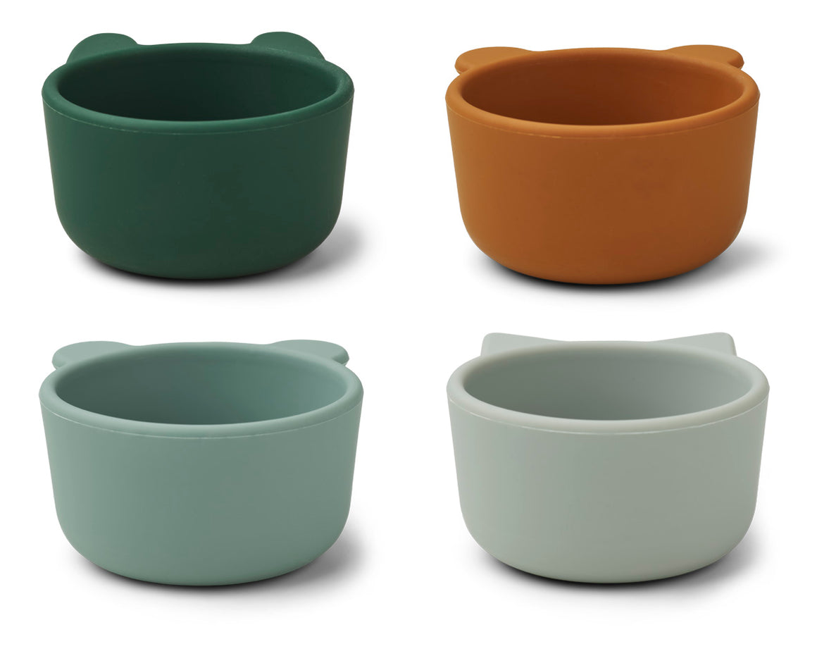 Liewood Malene Silicone Bowls - Green Multi Mix