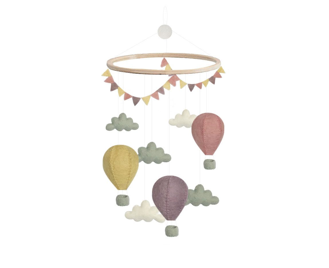 Gamcha Hot Air Balloons Mobile - Pastel Mix