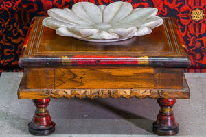 Close Up on Indian Furniture - Low Wooden Tables