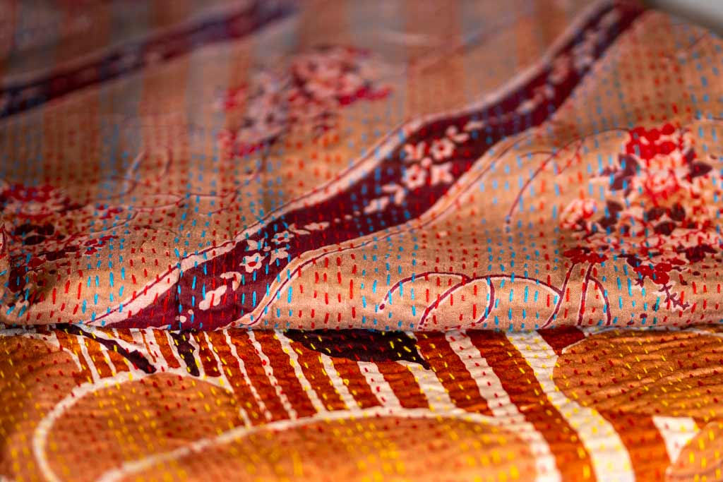 Kantha Scarves with a Vintage Twist