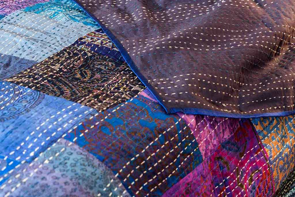 Kind of Blue - Indian Bedspreads in Cool Blues