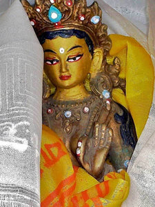 Gold Painted Tara Statue in the Spiti Valley
