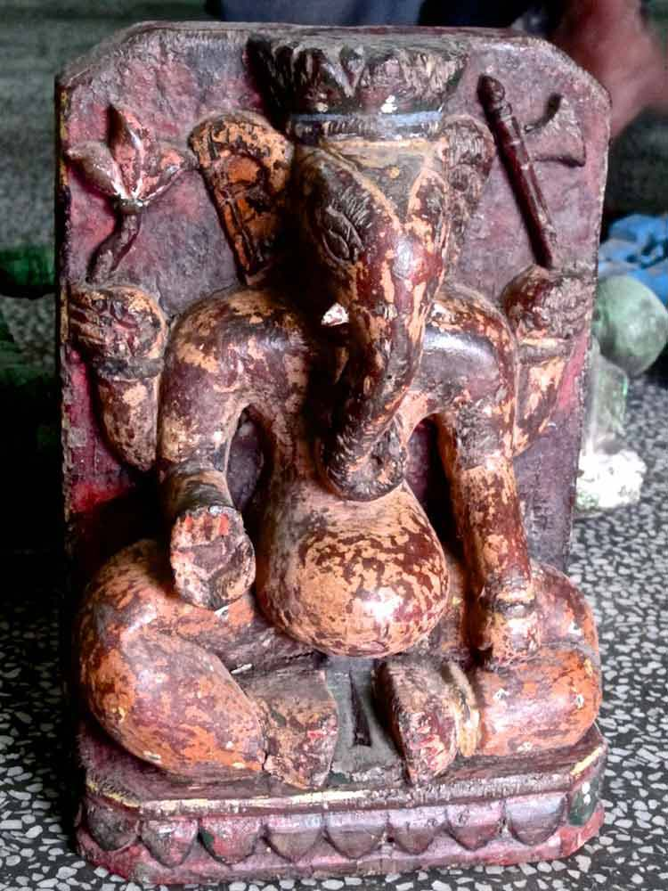 pot bellied ganesh statue